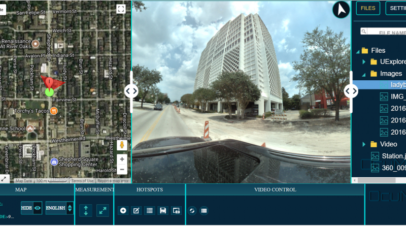 OcuMap Software- Web based 360 viewer with GPS