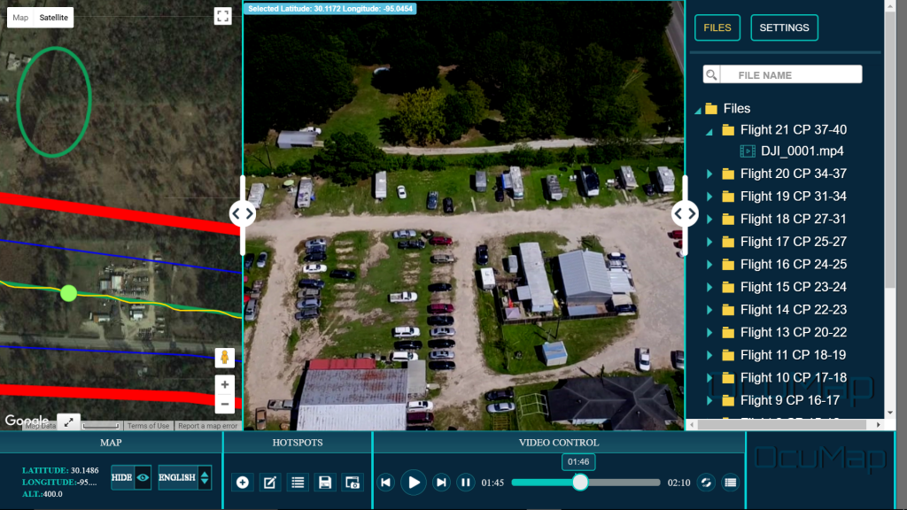 OcuMap geovideo software