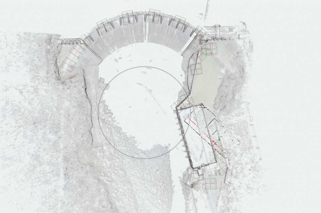 Overview of the 3d laser scanning data at piney dam