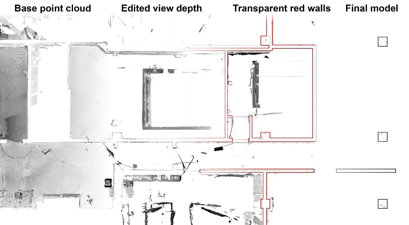 How to model with families from point clouds in Revit