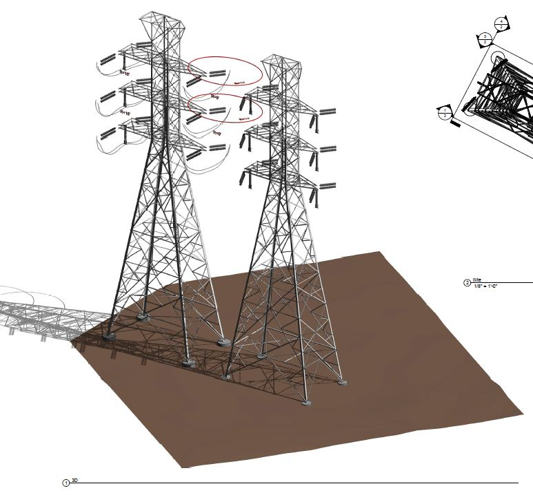 3D Utilities Mapping-Power Transmission Lines LiDAR